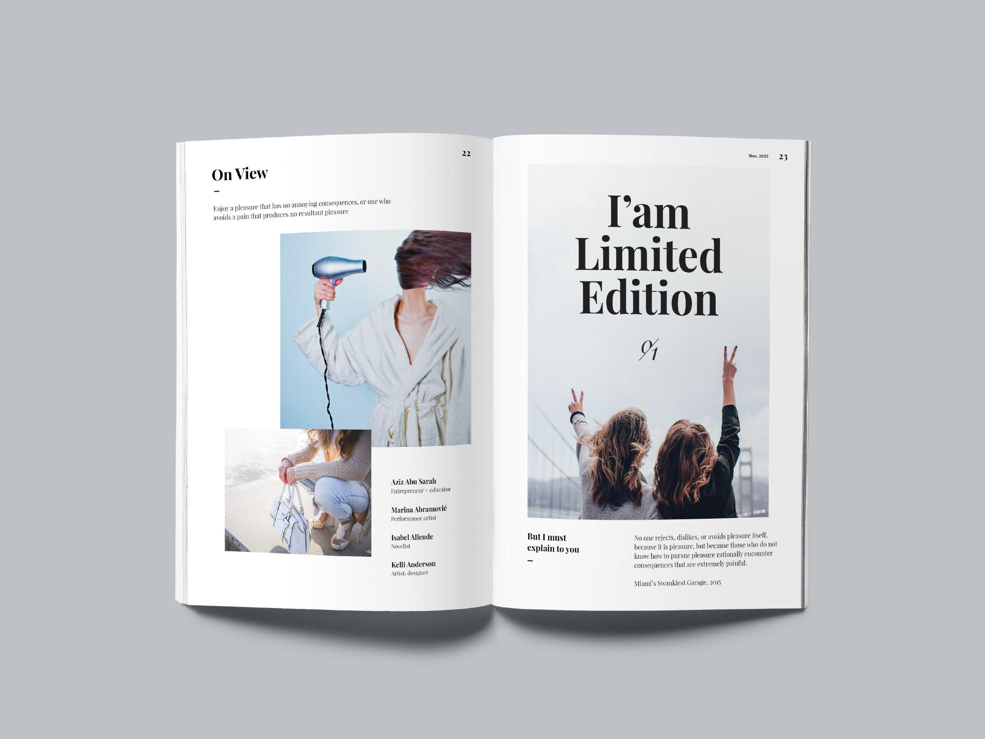 A5 Magazine MockUp - Opened