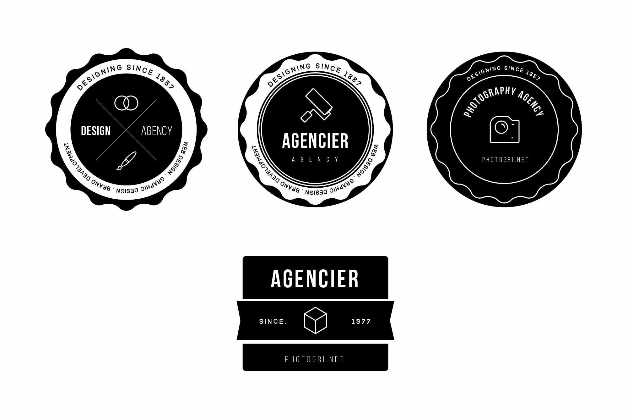 Agency Vector Badges