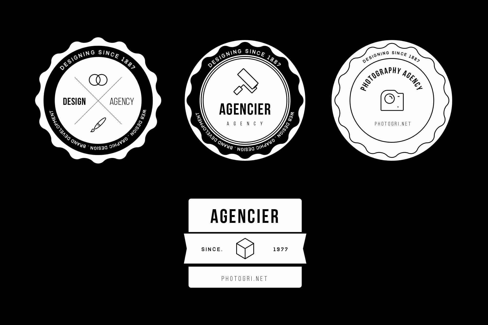 Agency Vector Badges 2