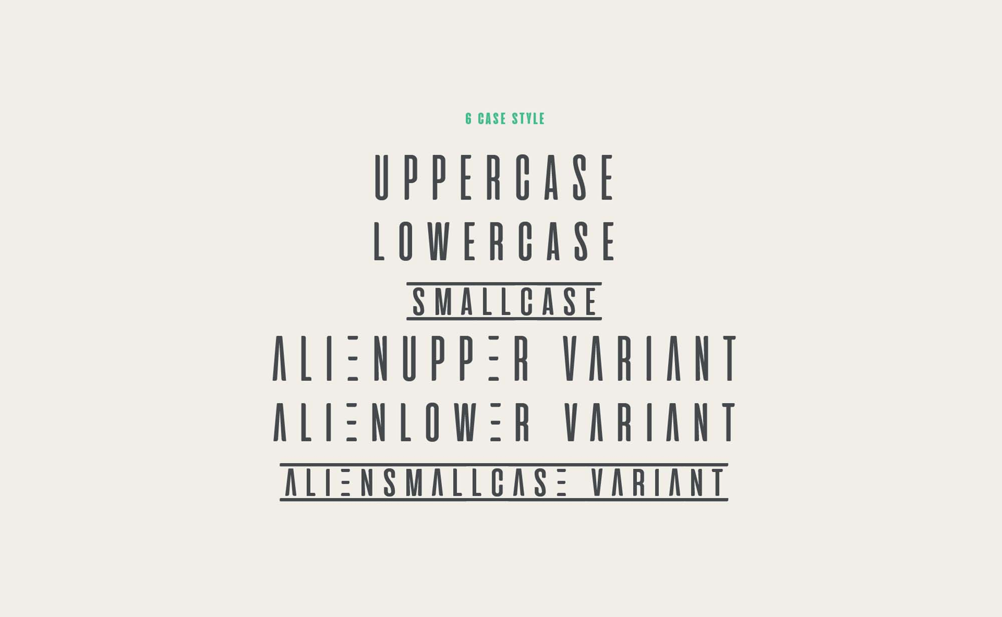 Aliens and Cows Font - Letters