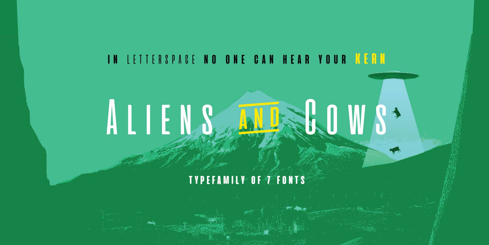 Aliens and Cows Font