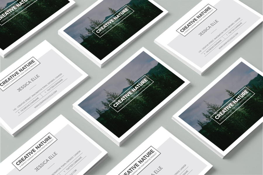 Artist Business Card Template - Perspective