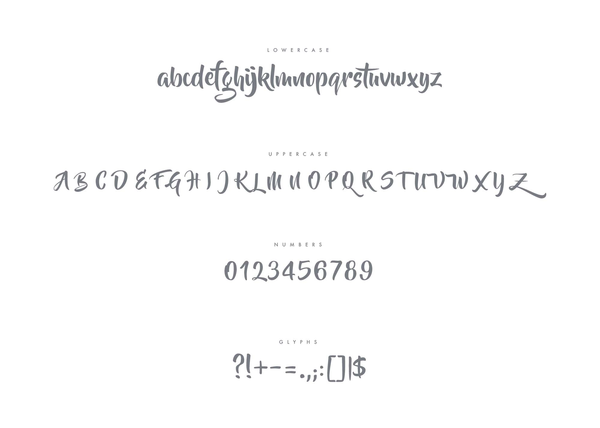 Beyond The Mountains Font Letters