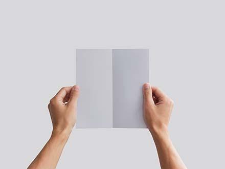 Bifold Brochure Mockup in Hand