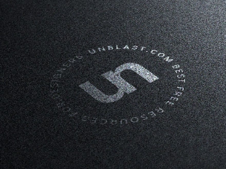 Silver on Black Logo Mockup