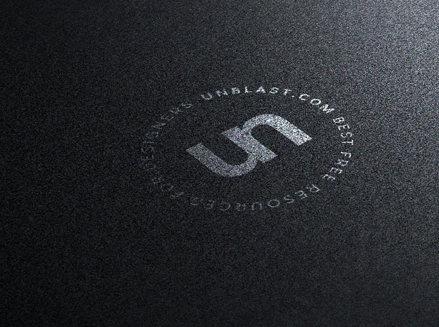 Silver on Black Logo Mockup