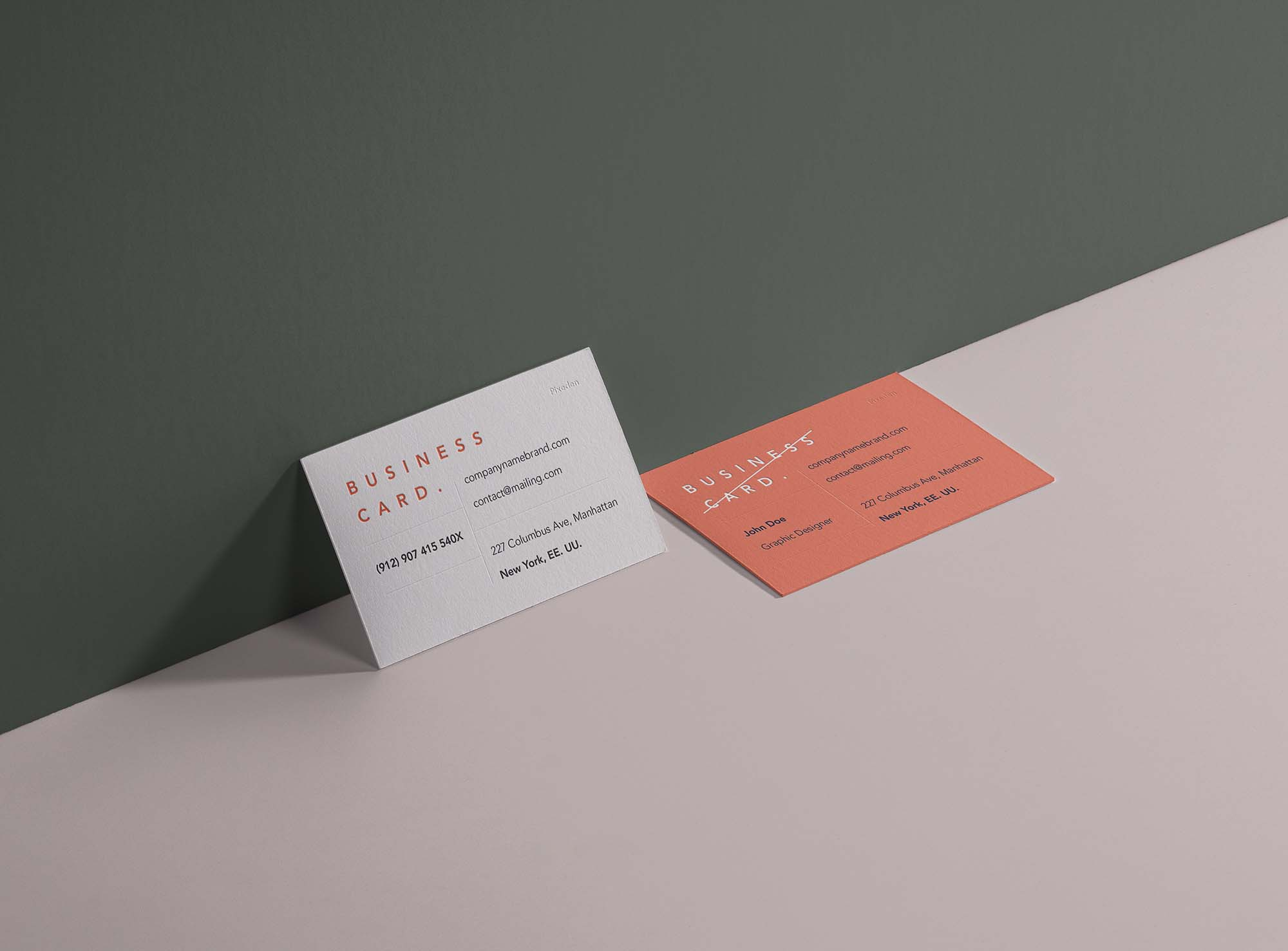 Business Card Branding Mockup