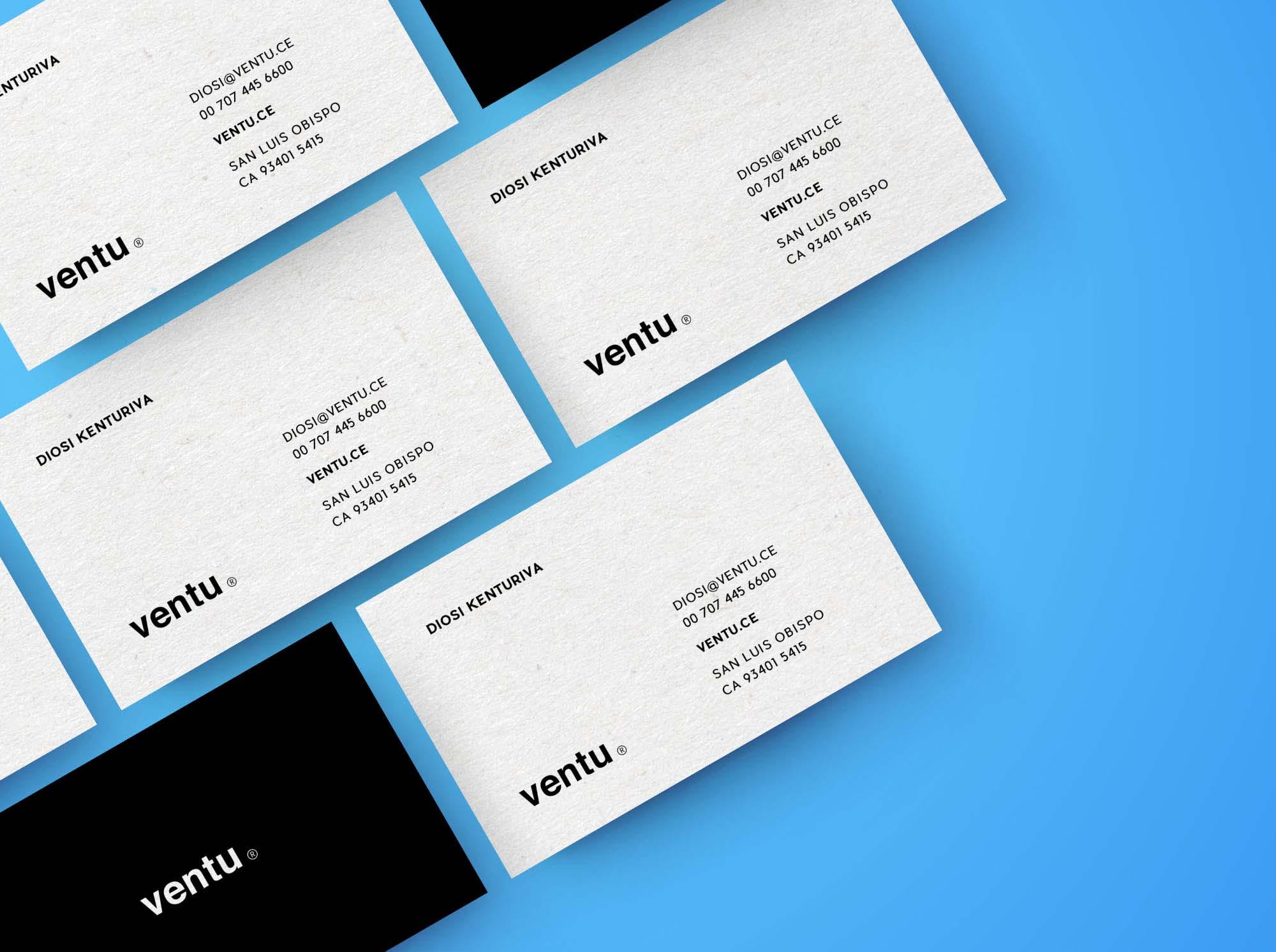Diagonal Business Card Mockups