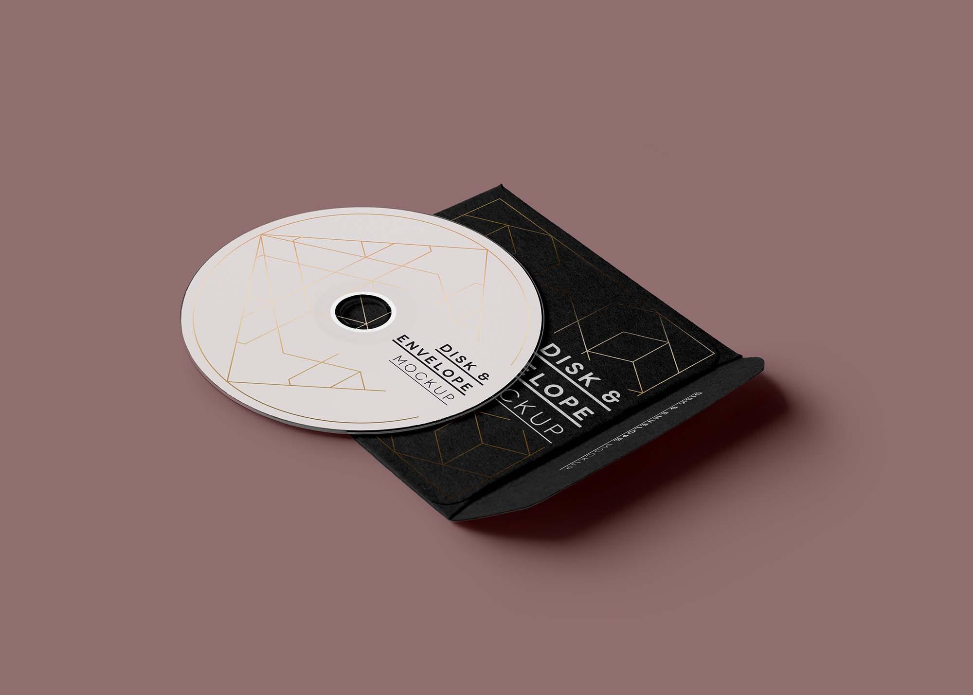 CD Disk Sleeve Mockup