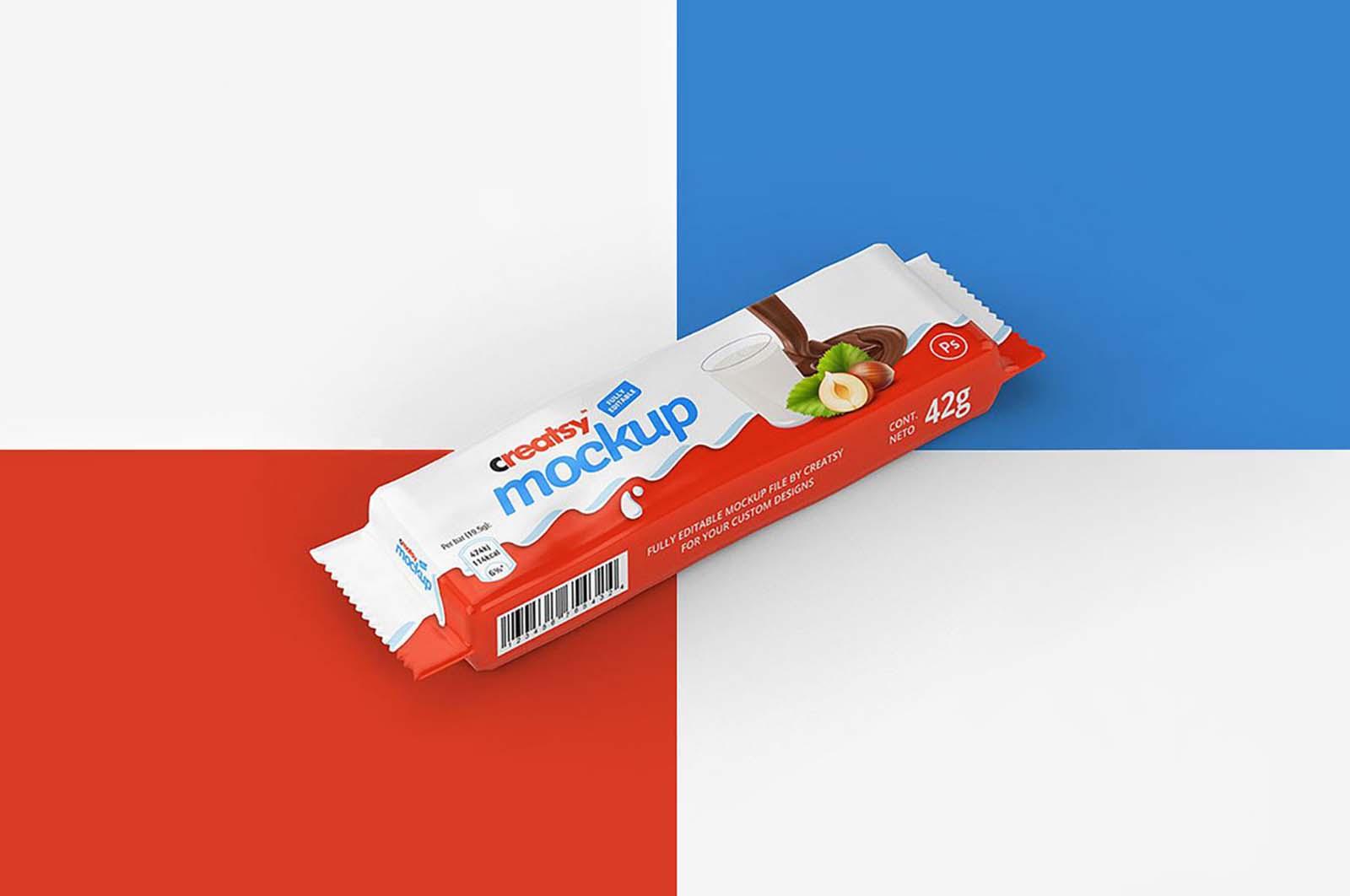 Free Paper Chocolate Bar Mockups