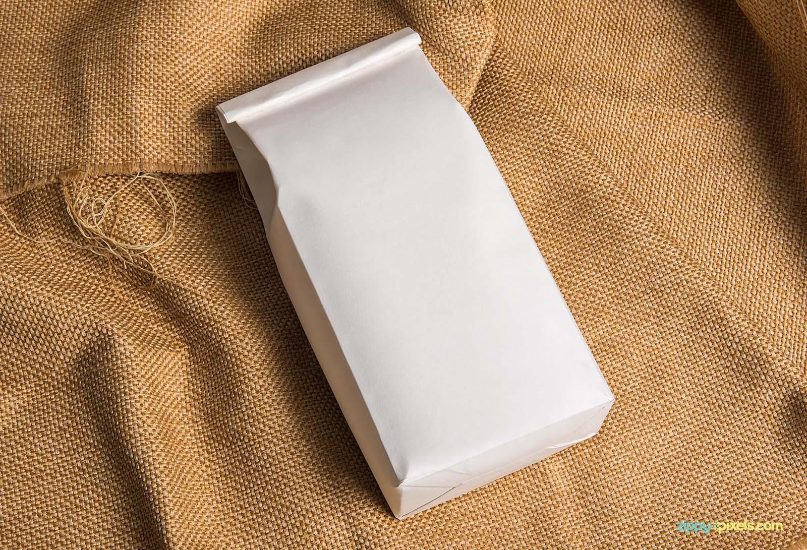 Plain Coffee Bag Package Mockup