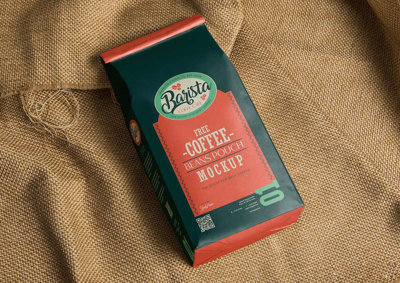 Coffee Bag Package Mockup