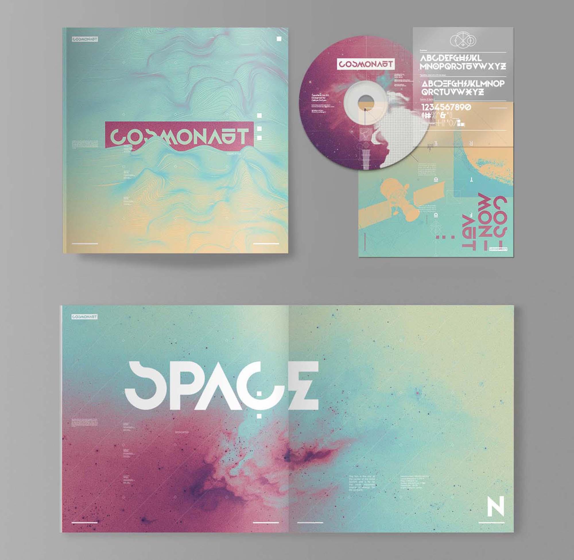 Cosmonaut Font 06