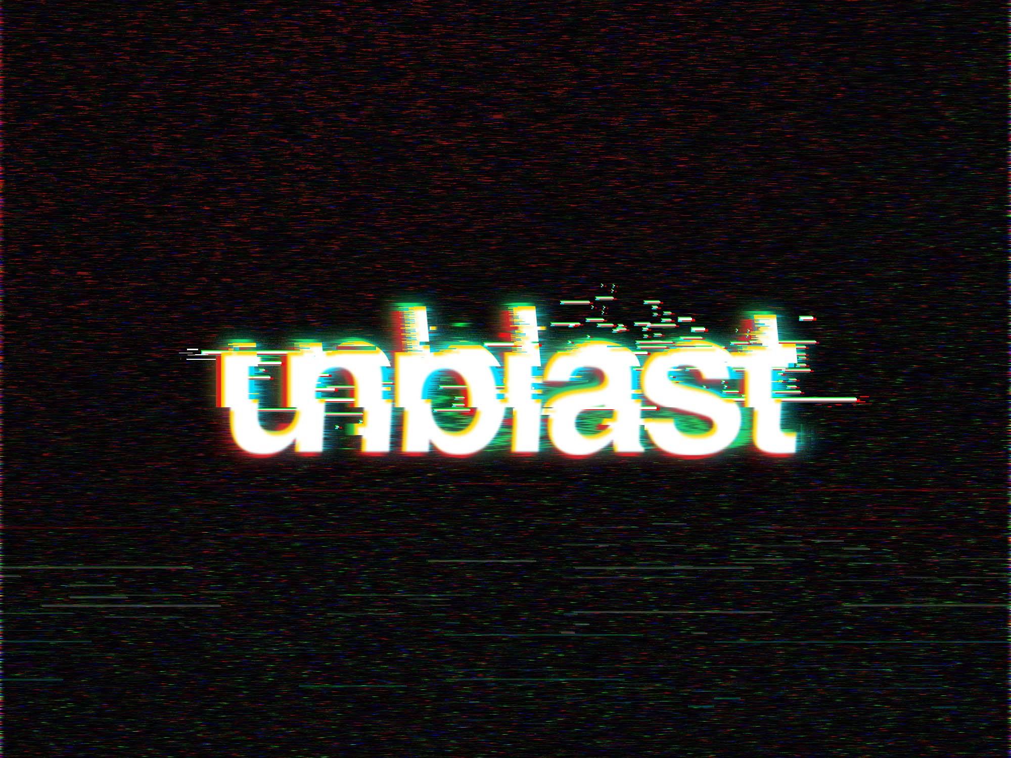 Digital Glitch Text Effect - Unblast