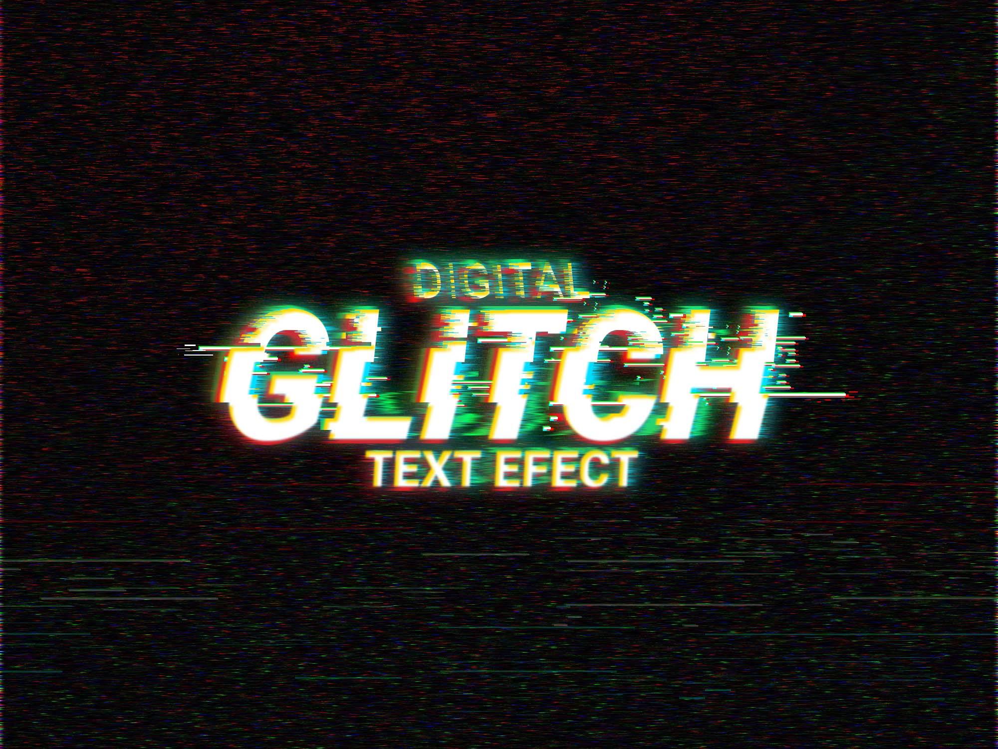 Digital Glitch Text Effect