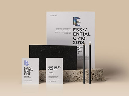 Essential Stationery Mockup