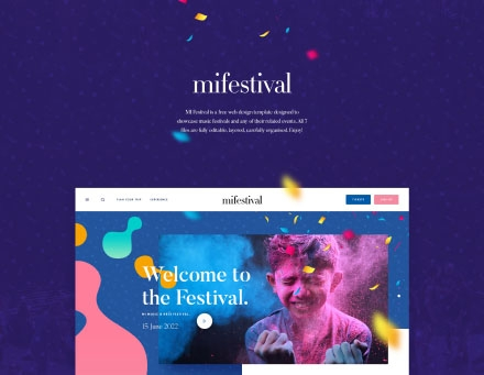 Event Website Template