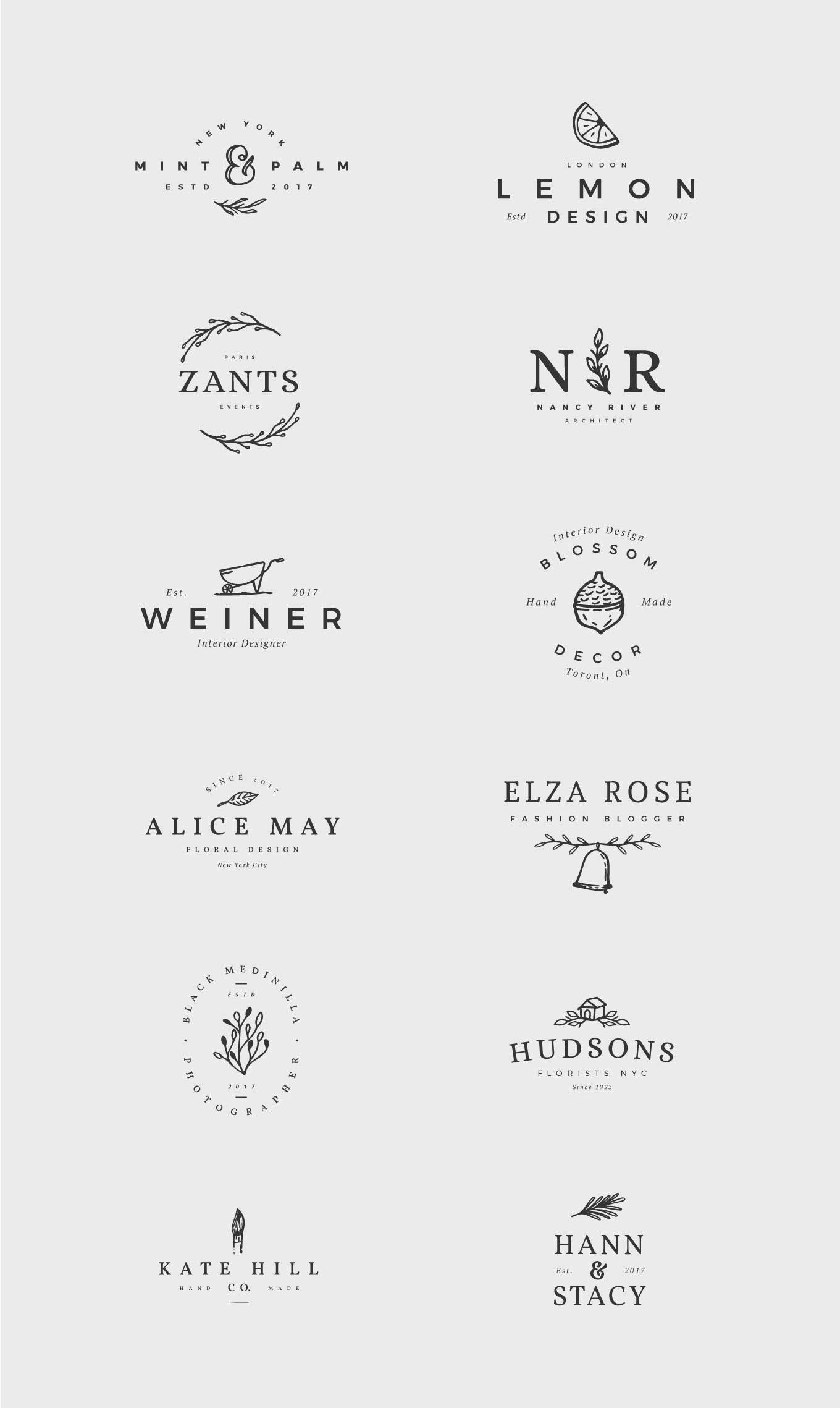 12 Feminine Logos