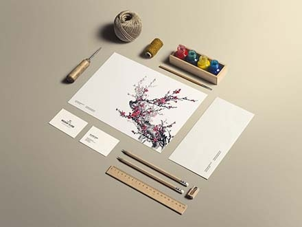 Art and Craft Stationery Mockup