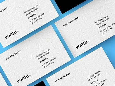 Diagonal Business Card Mockups