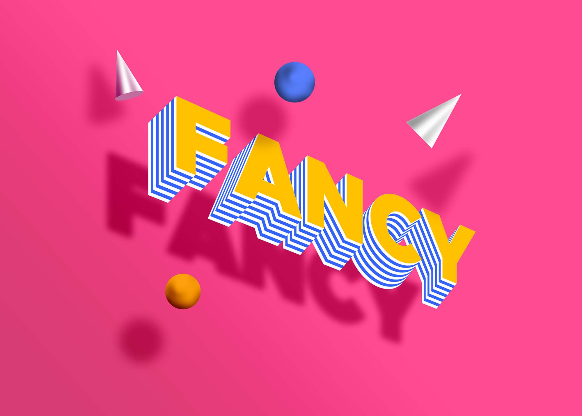 Free Fancy Isometric 3D Text Effect