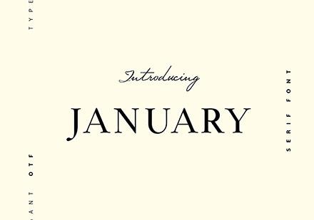 January Typeface