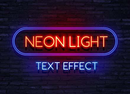 Neon Text Effect Mockup