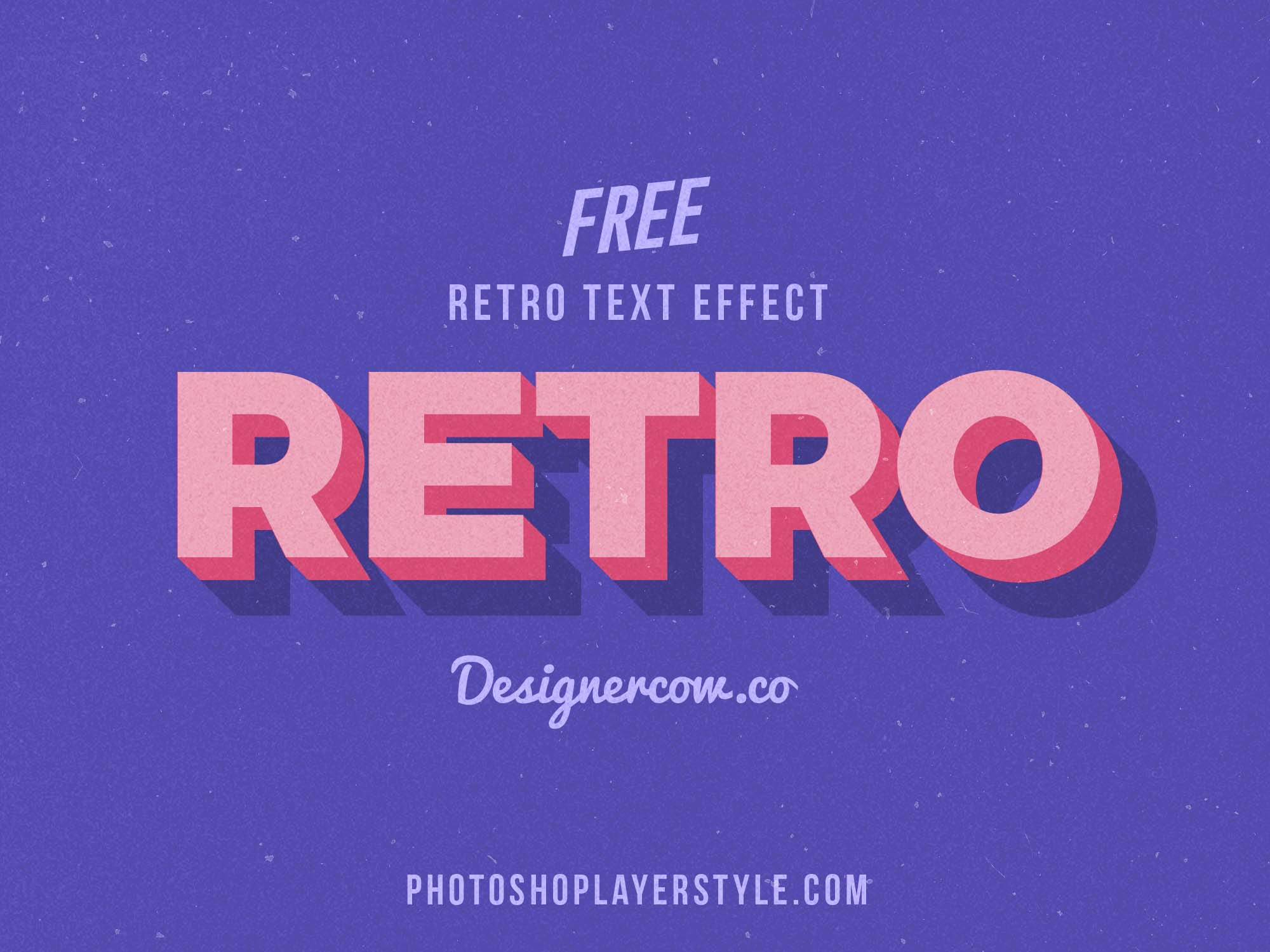 free 3d retro text effect  psd