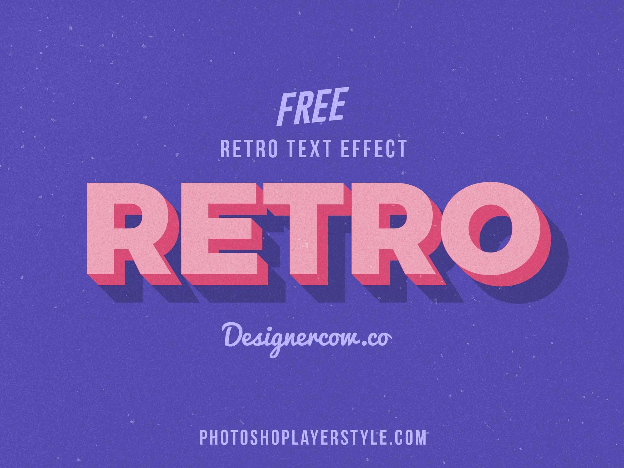 Free Retro 3D Text Effect