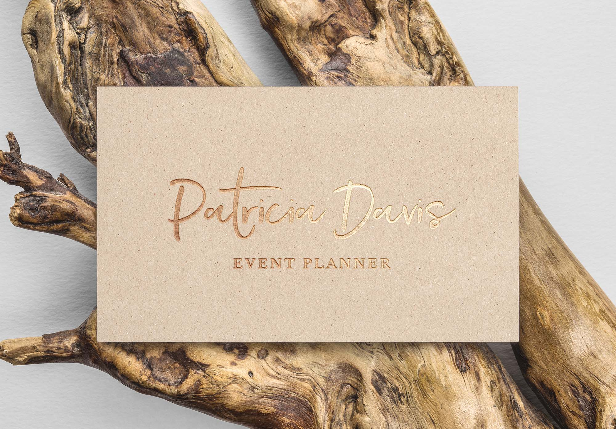 Gold Foil Business Card Mockup Free
