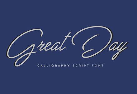 Great Day Script Font