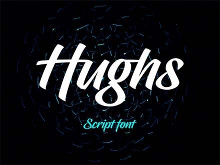 Hughs Script Font