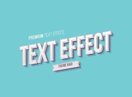 Isometric Text Effect