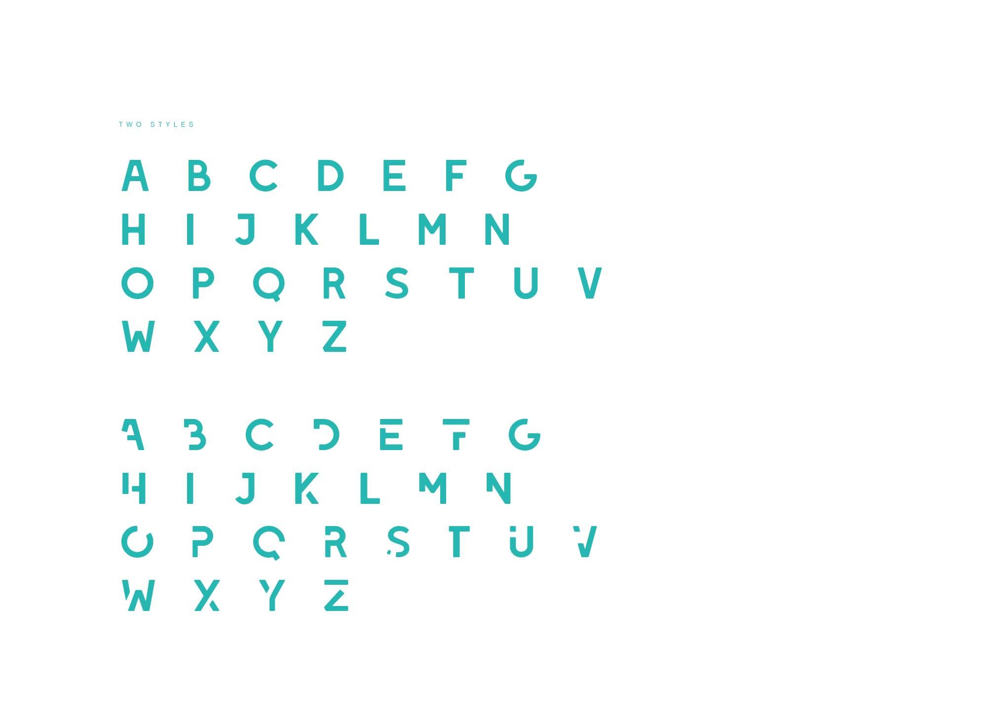 Leixo Stencil Letters