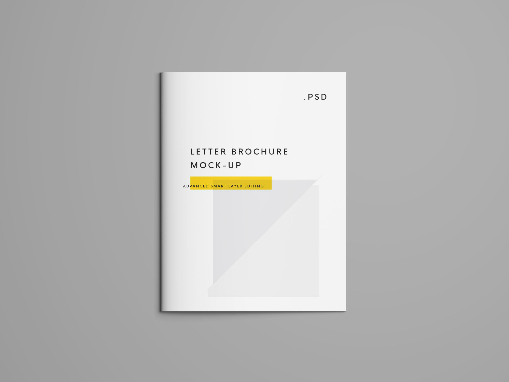 Free Us Letter Brochure Mockup Psd