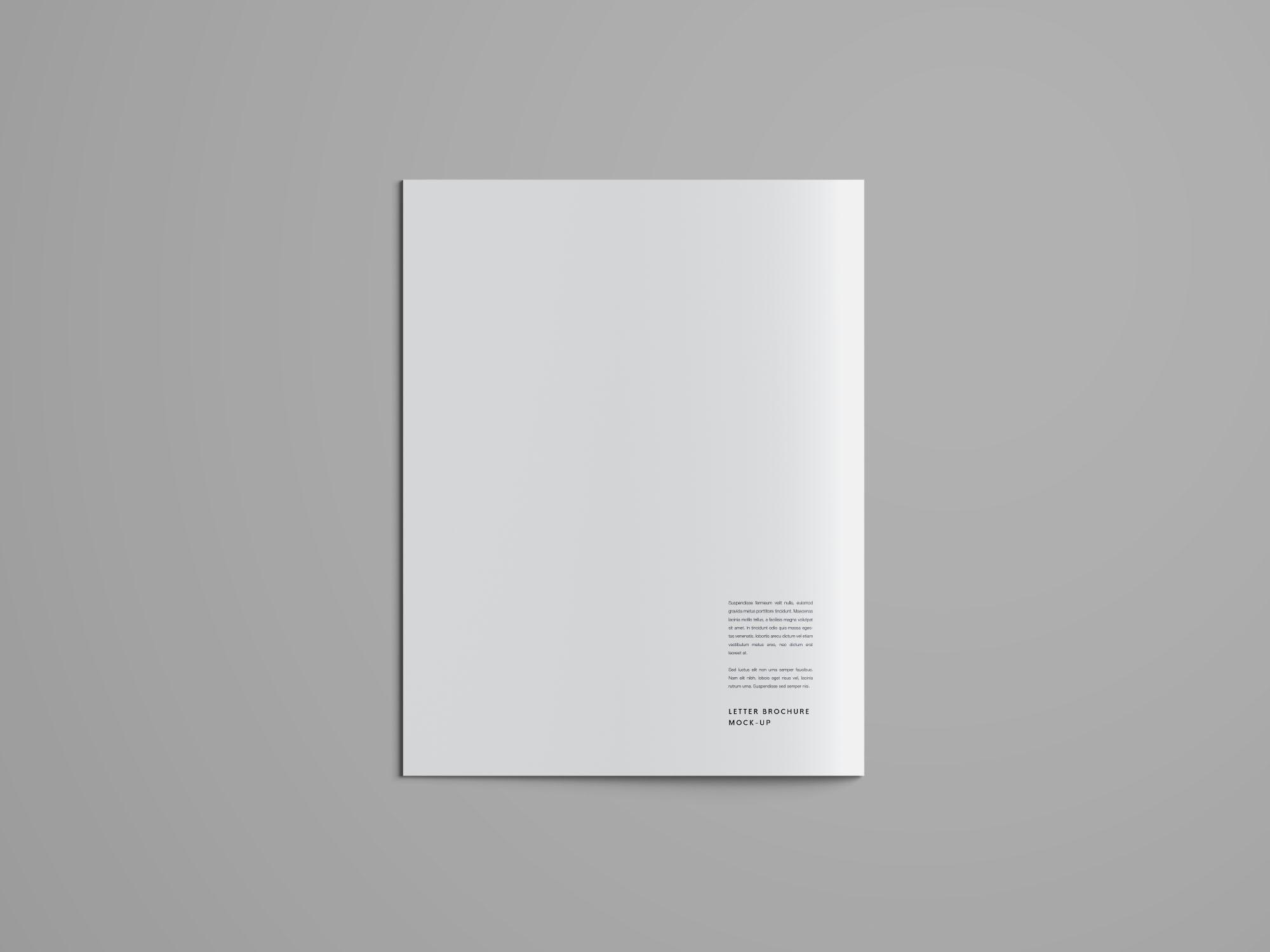 Letter Brochure Mockup