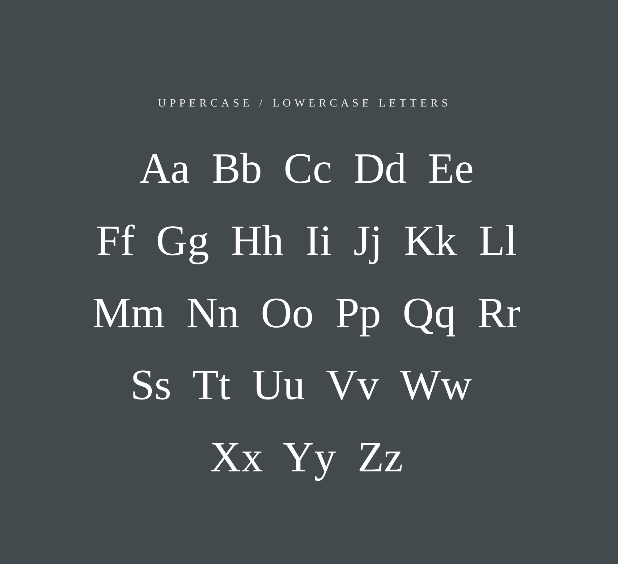 Liberation Serif Font Letters