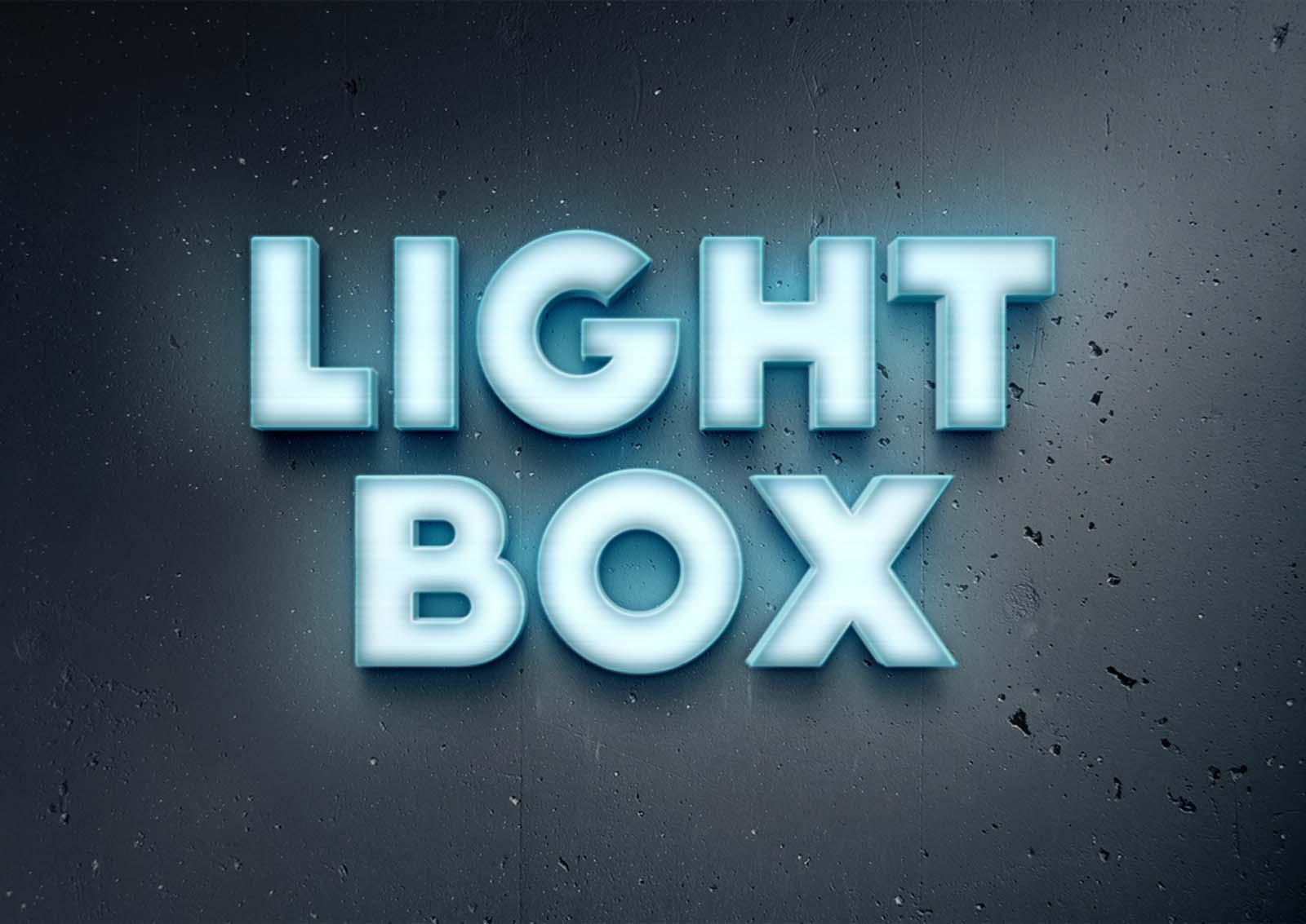 Neon Light 3D Text Effect (PSD)