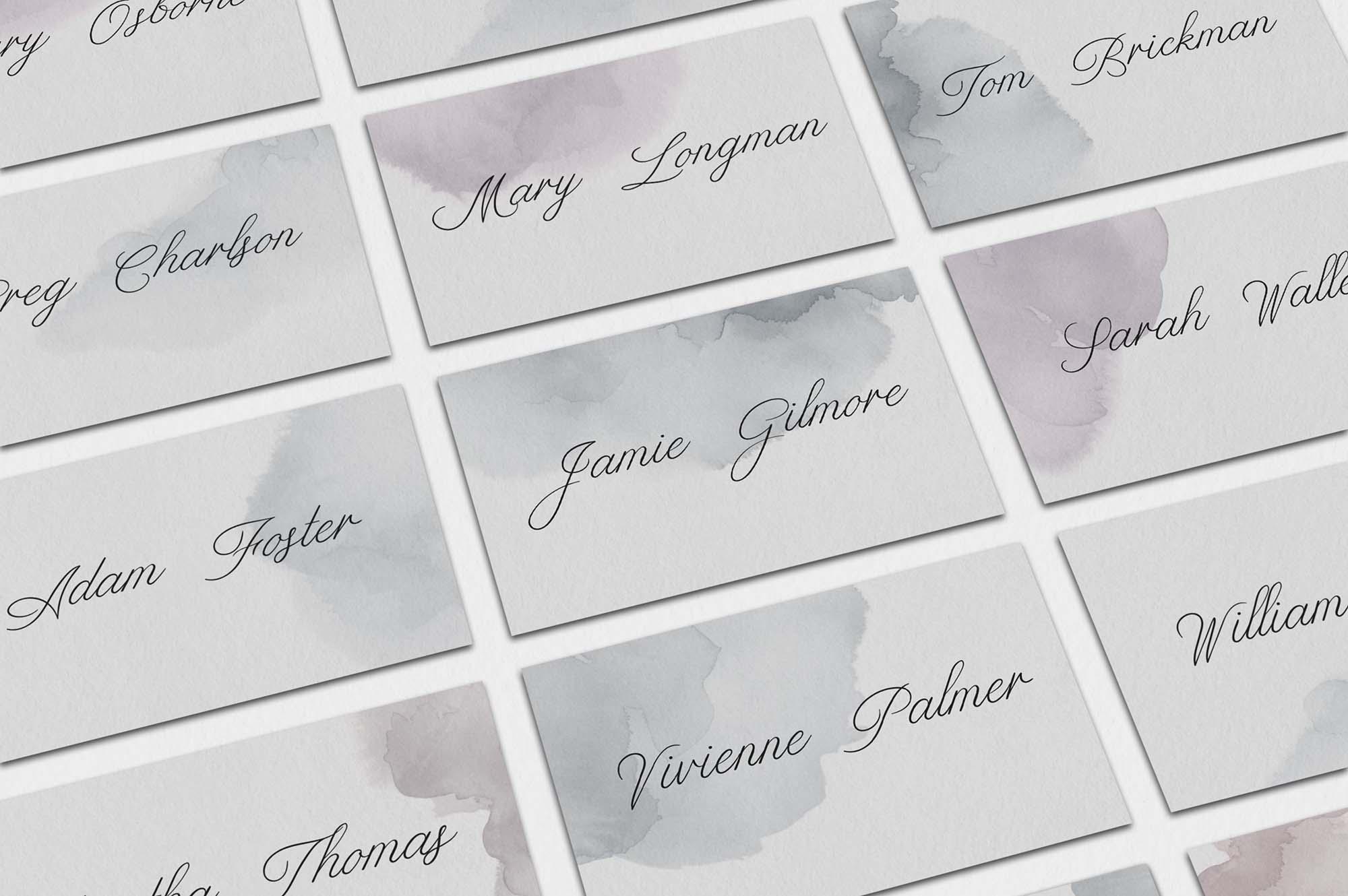 Limerence Script Font - Guest Cards