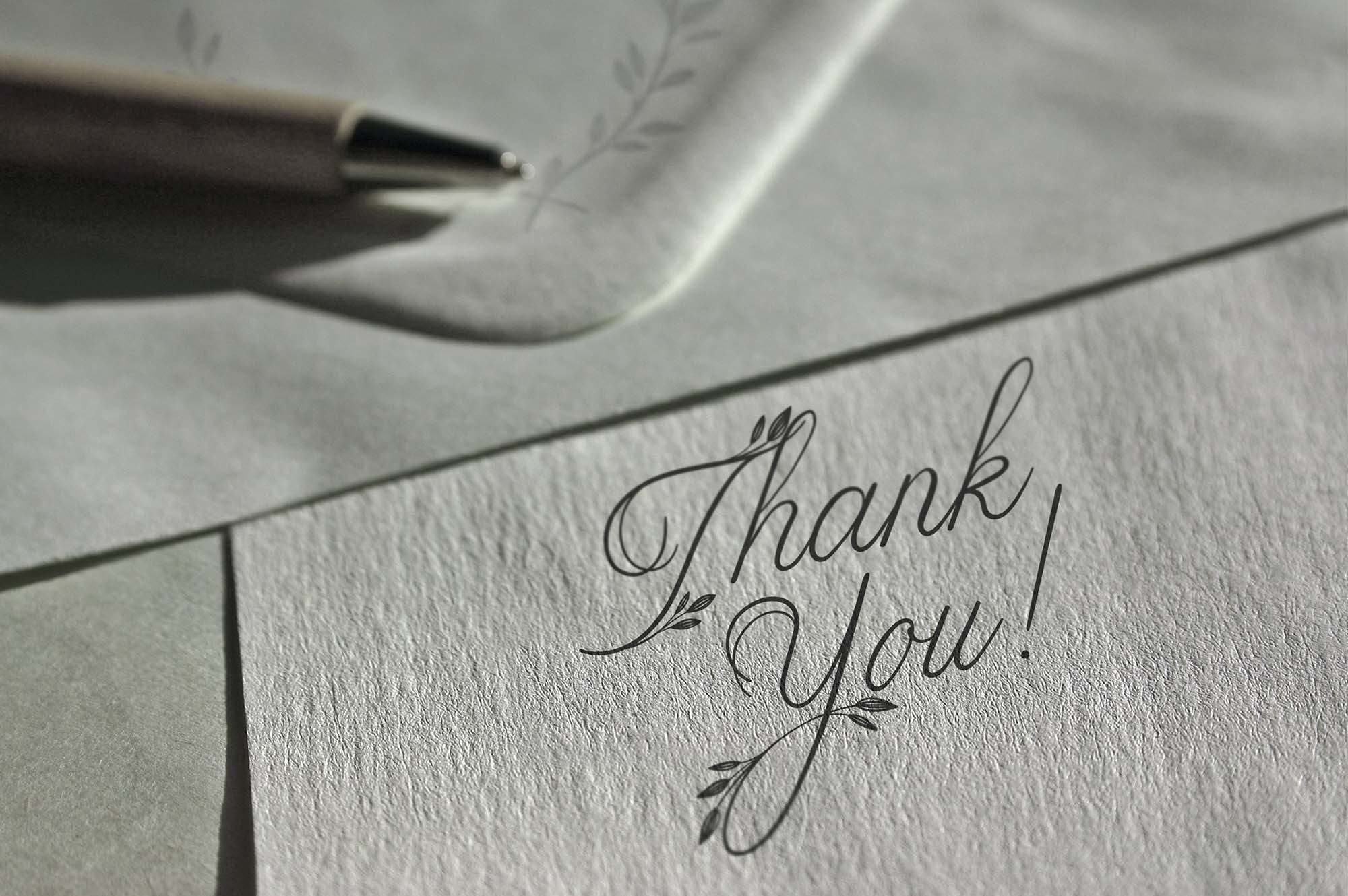 Limerence Script Font - Thank You