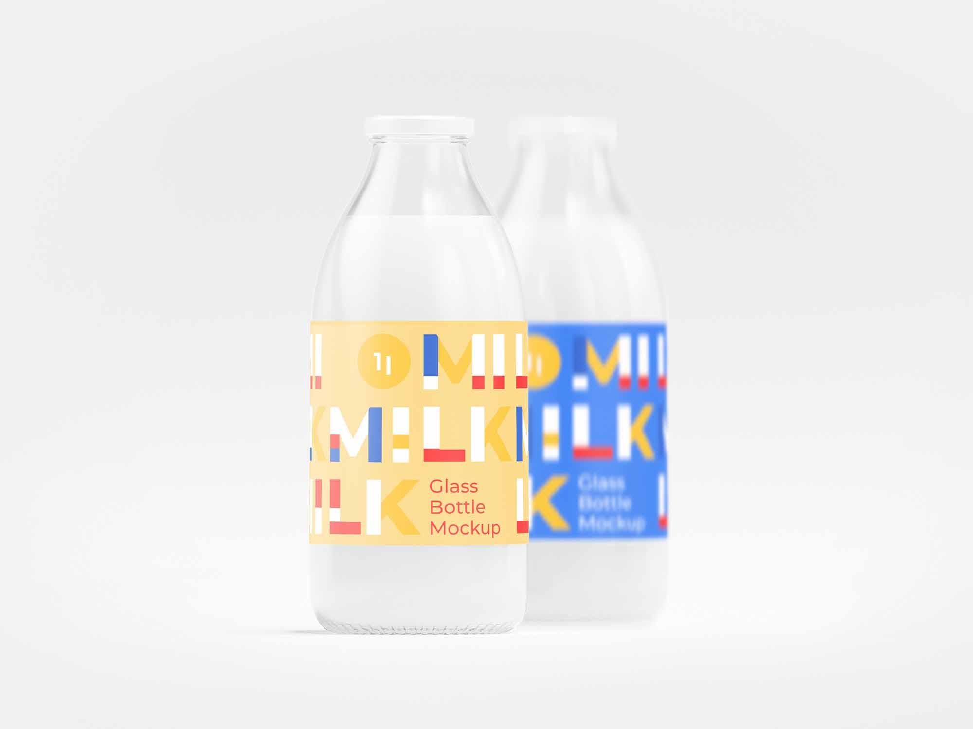 Milk Bottle Mockup 2