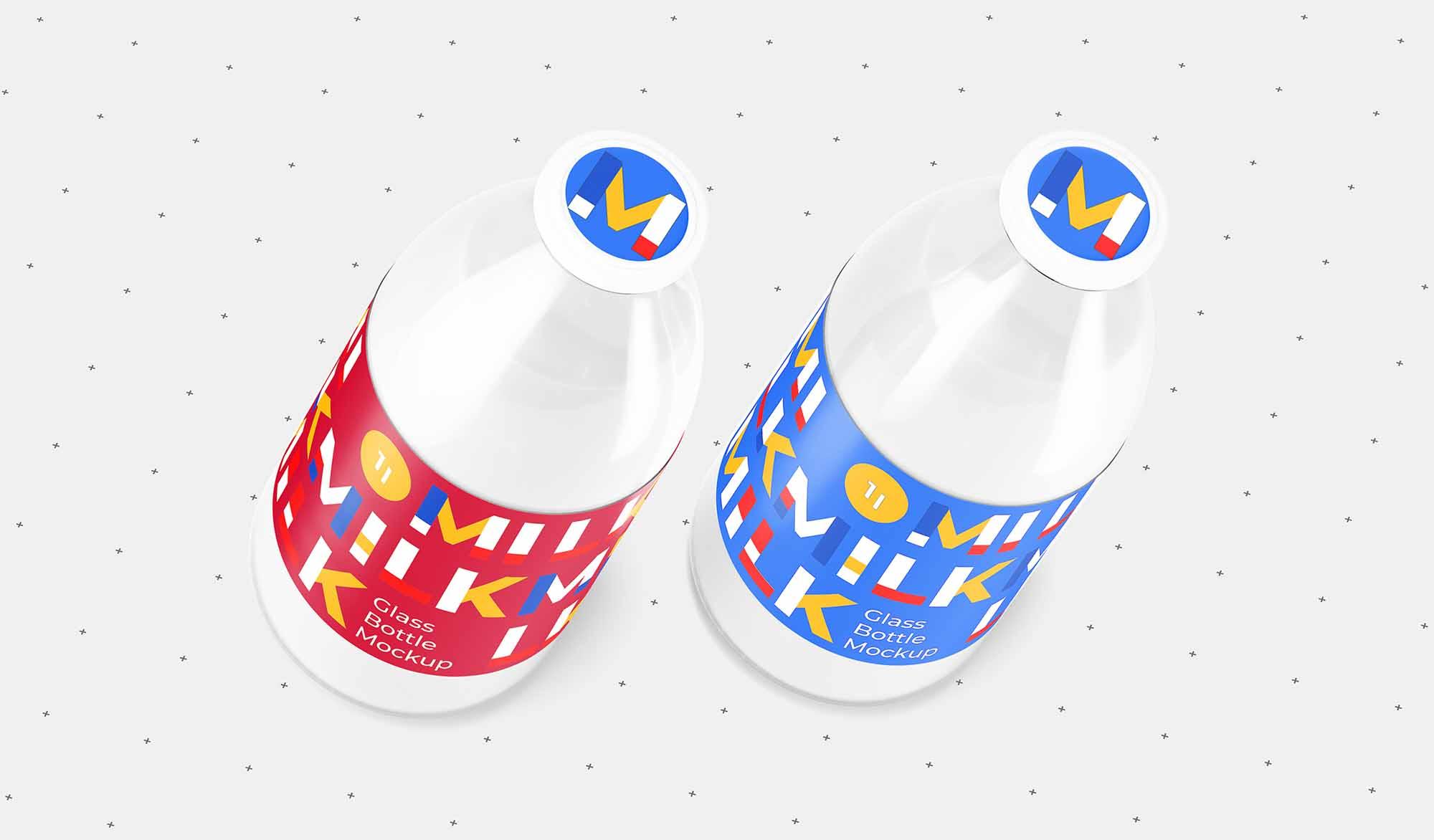 Milk Bottle Mockup 3