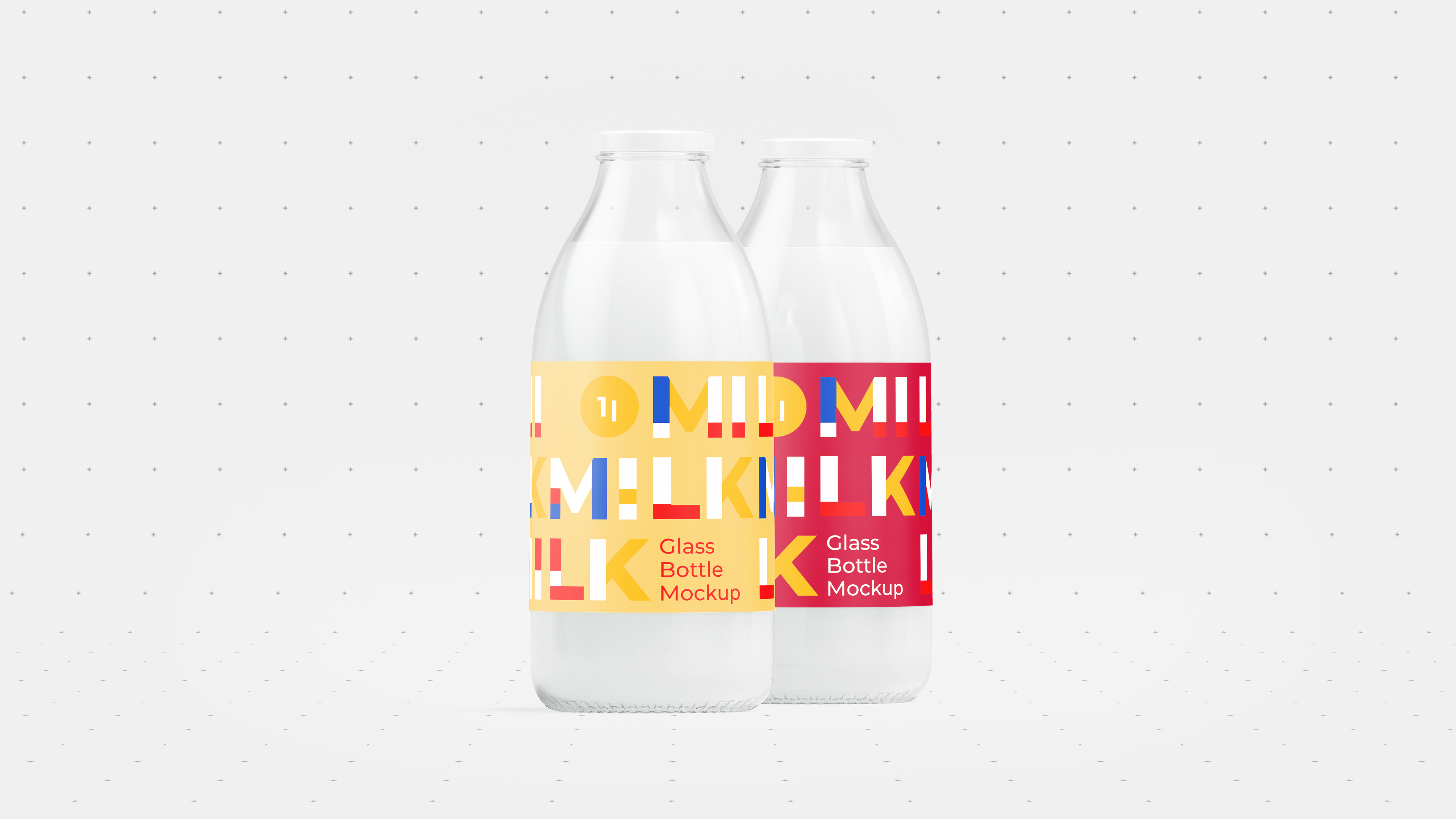 Milk Bottle Mockup 4