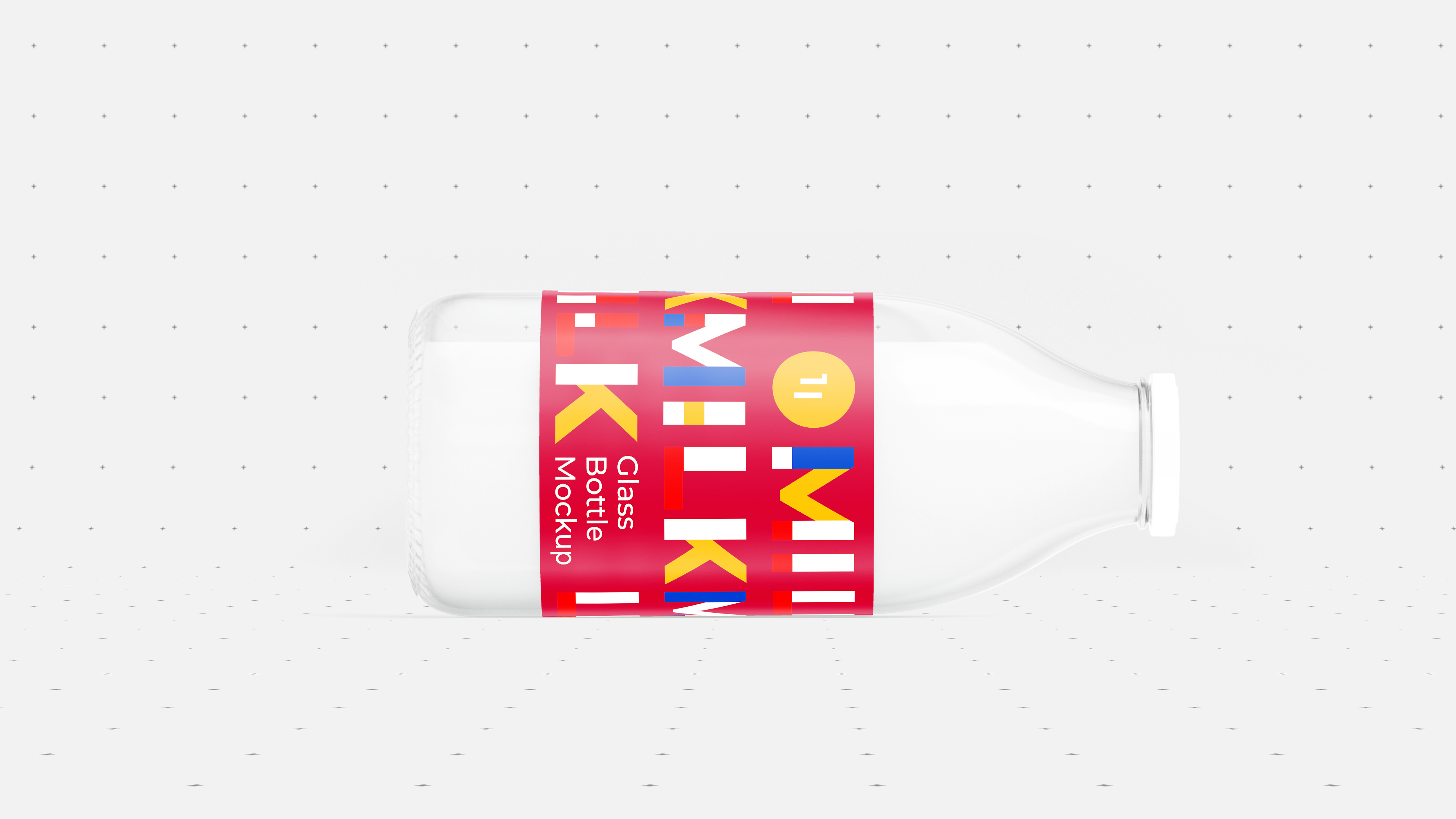 Milk Bottle Mockup 5