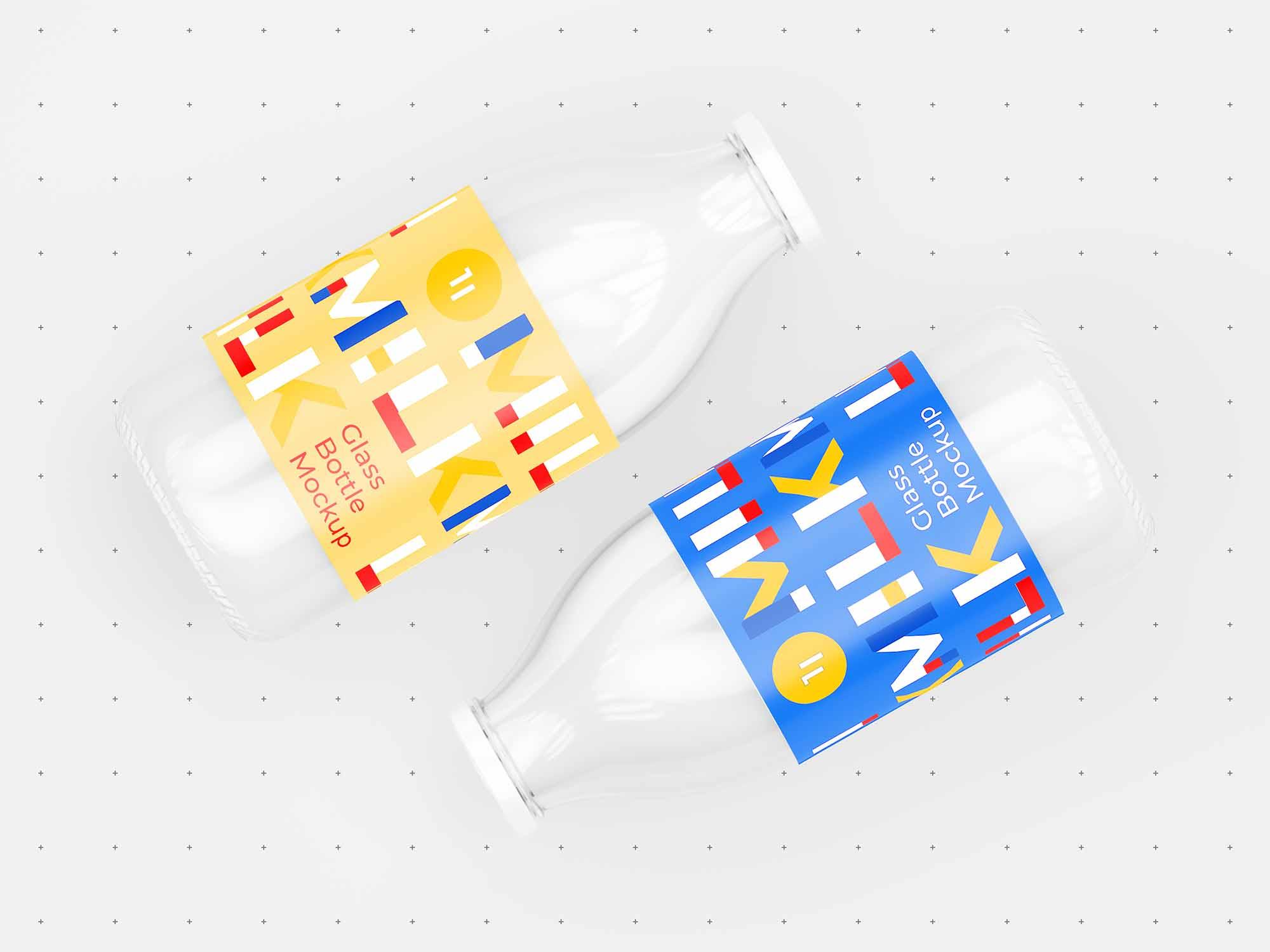 Milk Bottle Mockup 7