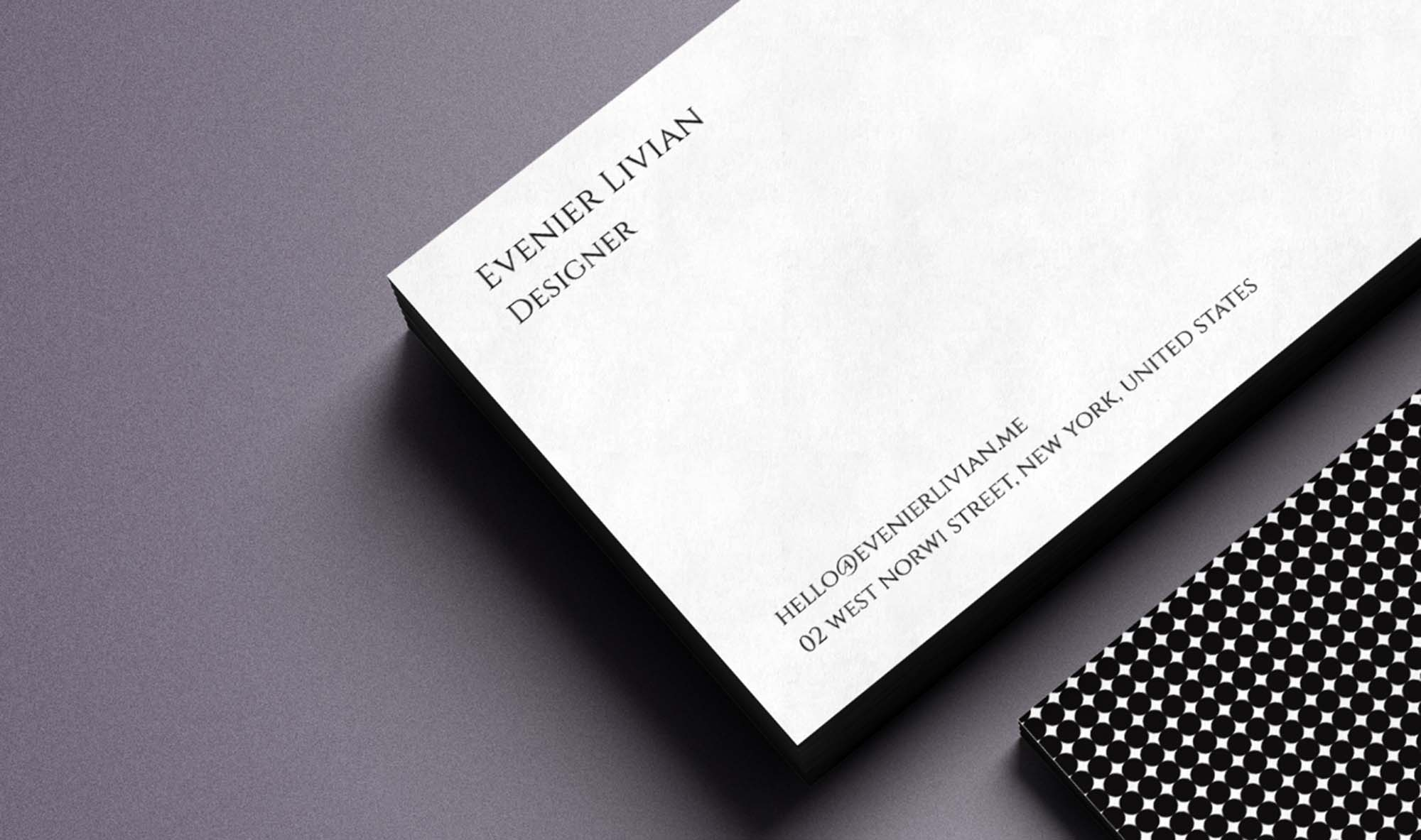 Minimal business card template accmission Choice Image