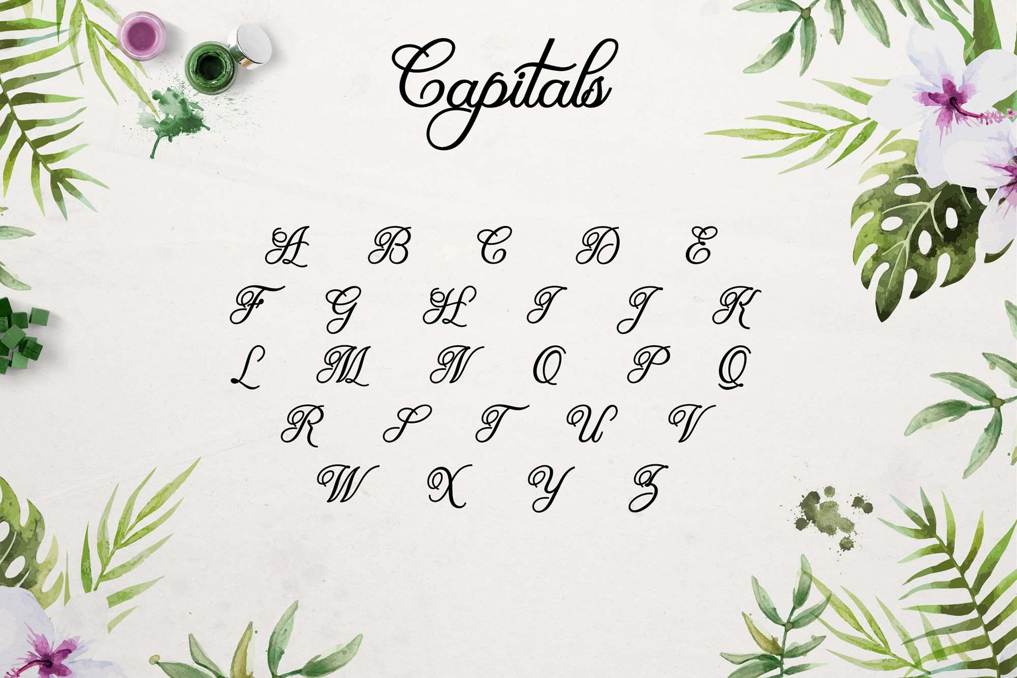 Olivia Font Capitals