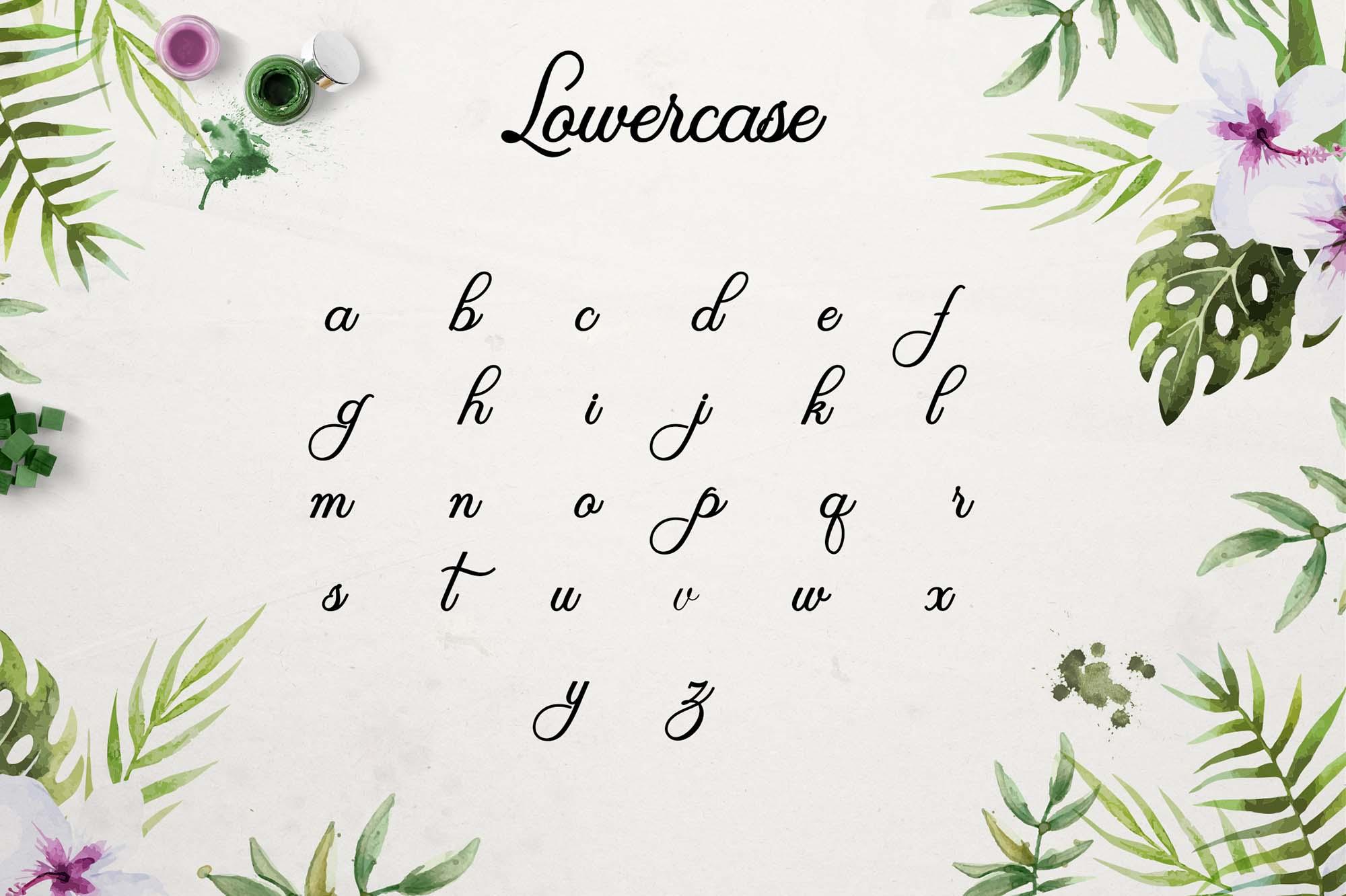 Olivia Font Lowercase