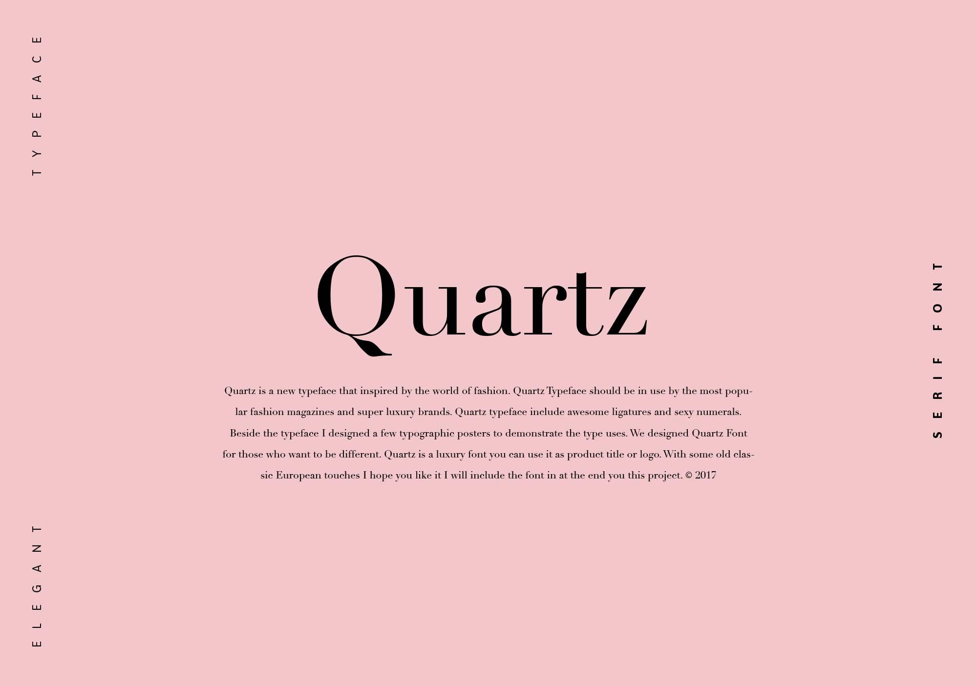 Quartz Font