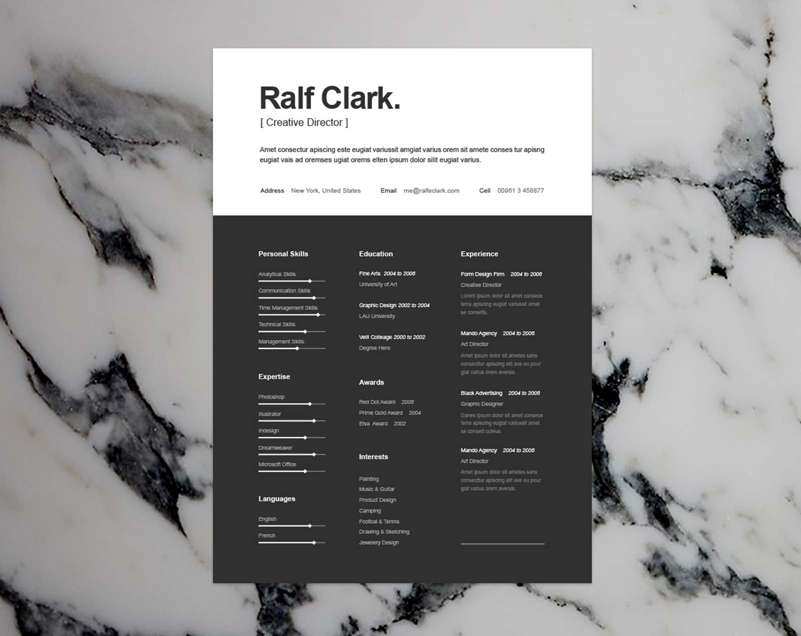a good and attractive resume is of a very high importance in todays labor market for that eye catching resume you can use this modern resume template